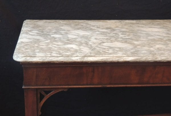 18th Century English Chippendale Mahogany Slab Table