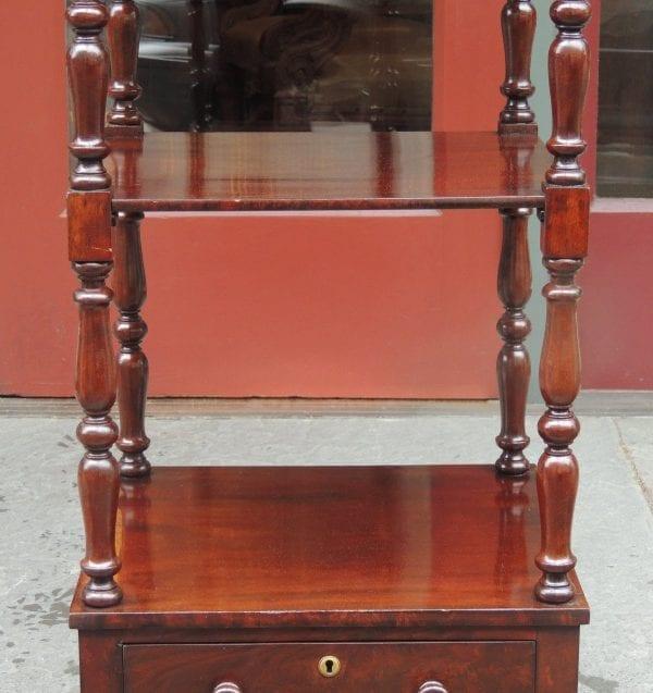 19th Century English Regency Mahogany Library Stand