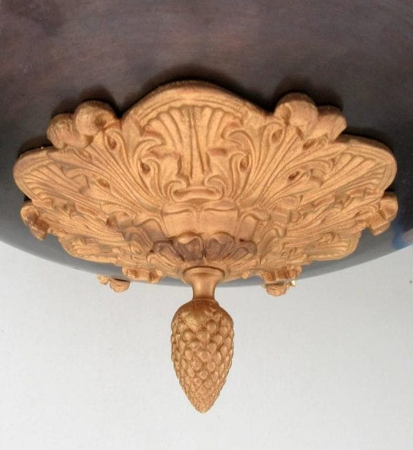 19th Century French Empire Patinated Brass and Zinc North Winds Chandelier