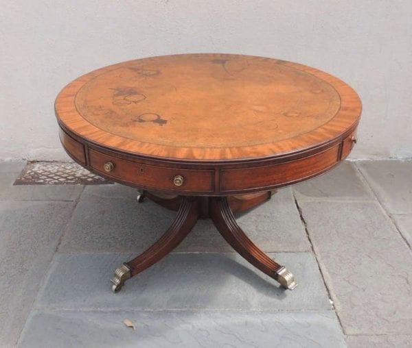 19th Century English Regency Mahogany Rent Table