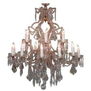 19th Century Italian Piedmont Orientalism Crystal and Gilt Tole Chandelier