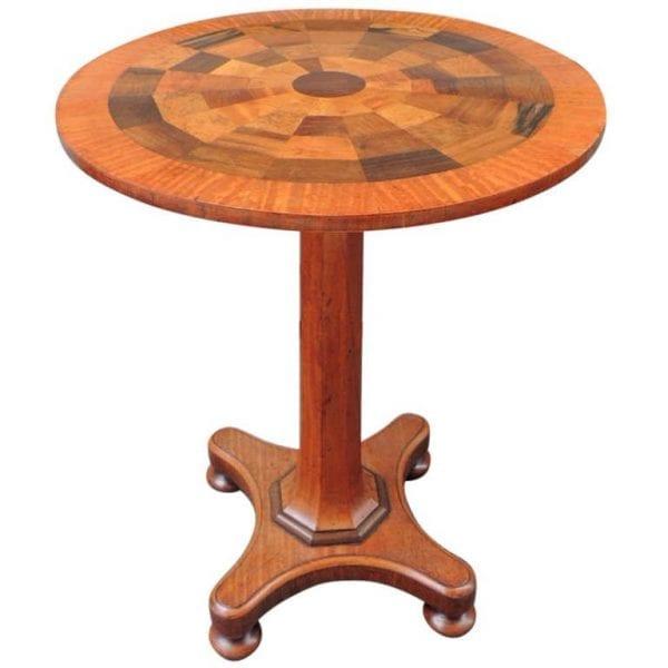 19th Century Jamaican Mahogany Round Specimen Table, attributed to Ralph Turnbull