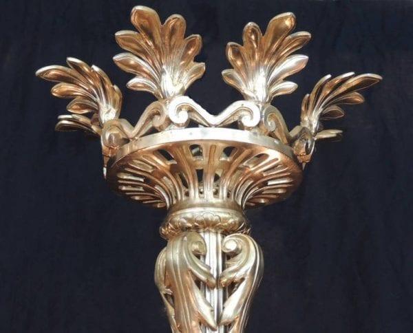 19th Century Russian Bronze Doré Chandelier