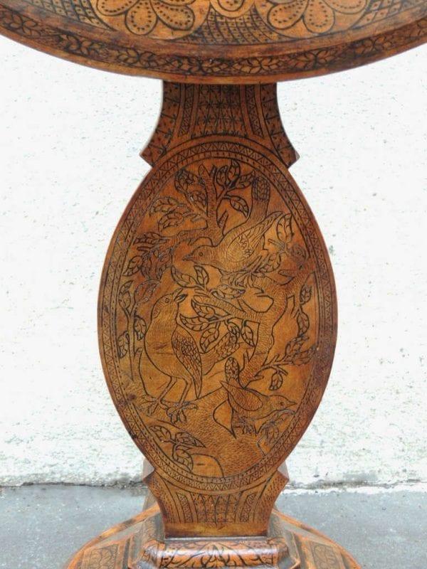 19th Century Spanish Walnut Tilt Top Table