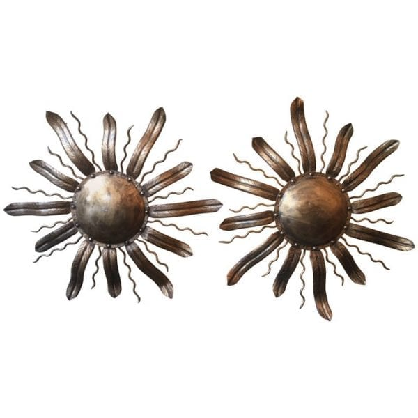 Pair of 20th Century Tole Barcelona Flower Sconces