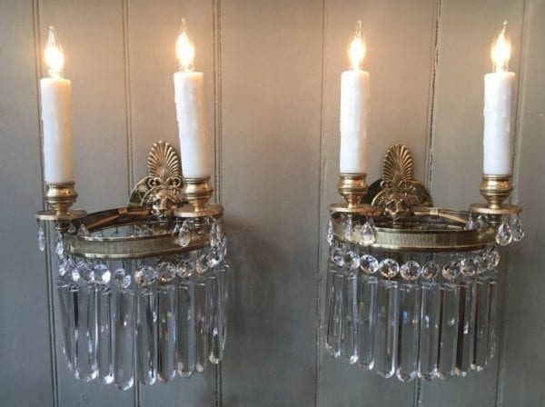 Pair of Early 19th Century Regency Lion Sconces